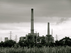 Power (robertvena) Tags: blackandwhite art industry architecture buildings landscape photography design newjersey factory cityscape power nj structures meadowlands powerplant architecturalelements robvena robertvena robertavena