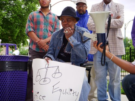 Willett Brown Protesting Eviction