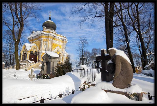 Graveyard in Alexander Nevsky Monastary