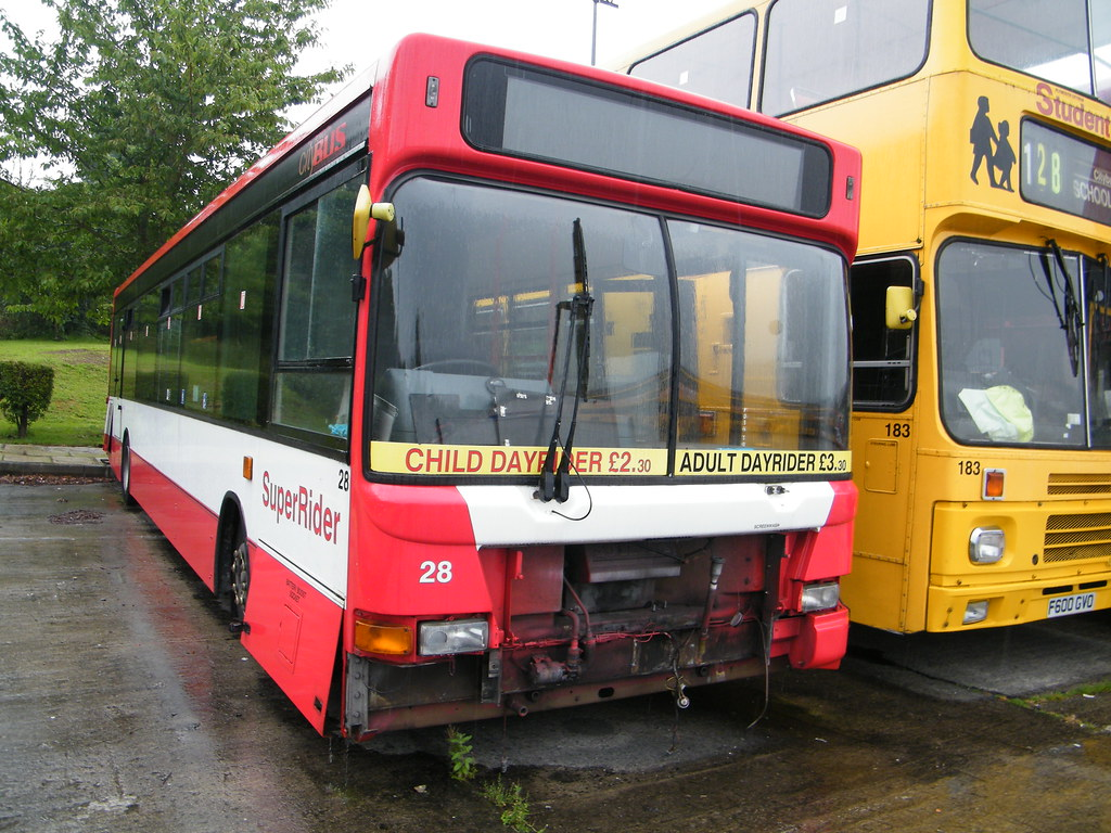Plymouth Citybus_Dennis Dart_T128EFJ_Being Slowly Taken To Bits