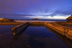 Twilight Sutro Baths (David Shield Photography) Tags: ocean sanfrancisco california longexposure sunset sky seascape color clouds landscape coast twilight ruins landmark bayarea sutrobaths charthouse coth goldengatenationalpark bestcapturesaoi