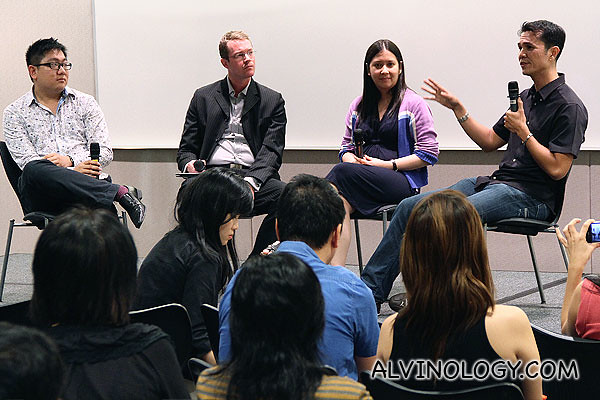L to R: Me, Dr William from SAE, Elena and Ion from Yahoo!
