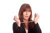 Geschäftsfrau in Handschellen (bemedia123) Tags: business weiss angst junge hände hintergrund weiser enge gefangen weis weisser weiblich hübsch fesseln kleingedrucktes zwang freigestellt gefesselt bindung gebunden geknebelt geschäftsfrau handschellen wehrlos freisteller verbunden ängstlich symbolisch fessel eingeengt sinnbildlich eingeschüchtert vertragsbindung knebelvertrag zwangslage klausel handlungsunfähig
