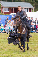 Happy Killer (Phal44) Tags: canon 7d2 7d mk2 200400 200400mm sussex hertsmonceux medievalfestival weapon horseback horse watermelon knight