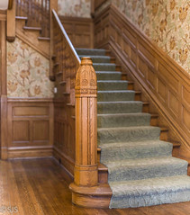 Newel Post - bokeh panoramic (OPRFHouse Photography) Tags: newelpost newel post a7r2 a7rll a7rii a7 architecture oak oakpark realestate brenizer method bokehrama 16shots victorian batis 85mm f18 illinois ilce7rm2 ilce7m2