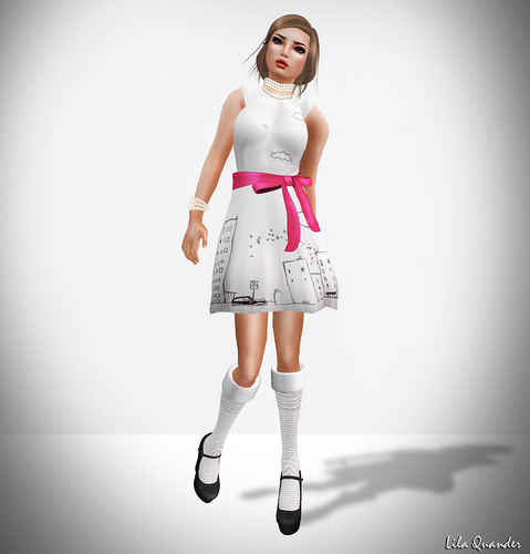 Nyte'N'Day - Pop Dress - Hot Pink-White