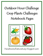 Crop Plants Notebook Page Cover Button