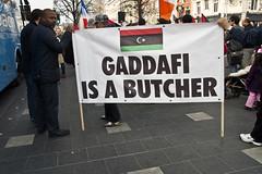 "Libyans Protesting In Dublin - ""Gadaffi i..."