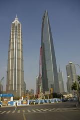 Pudong, Shanghai, China (Alexander Marc Eckert) Tags: china shanghai prc   pudong chine jinmaotower jiangsu  peoplesrepublicofchina  swfc   jiangsuprovince       shanghaiworldfinancialcenter   volksrepublikchina