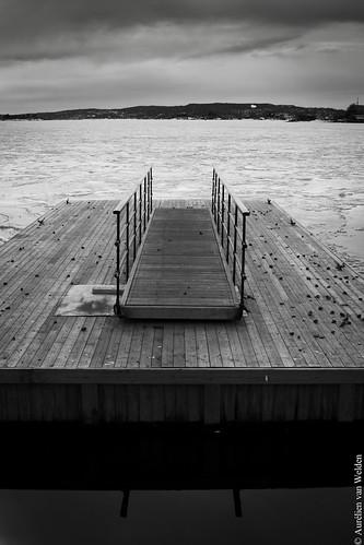 Pier on Oslofjorden