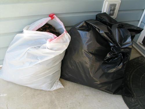 Two bags sorta full