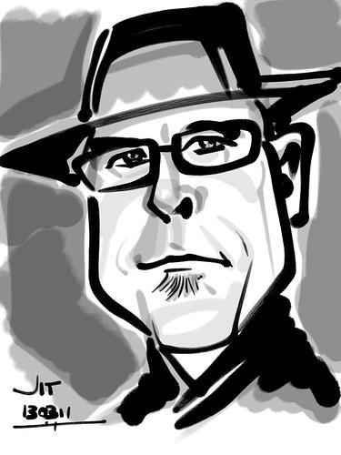 José Manuel Rodriguez Berge caricature