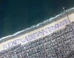 FLICKR WE DEMAND DONUTS (jakerome) Tags: beach graffiti cool flickr googlemaps running uncool gps manhattanbeach hermosabeach cool2 cool5 cool3 cool6 cool4 cool7 wedemanddonuts thedayofthedonut uncool2 uncool3 uncool4 iceboxcool coolsave gpsgraffiti 200footletters