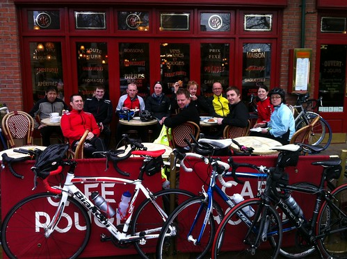 Post ride coffee and cake