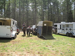 Unloading at Umstead Park