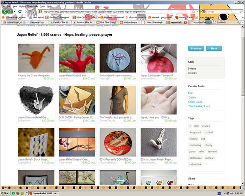1000 cranes etsy treasury 04042011