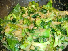 Thai Green Curry, in the wok