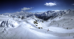Clear (rawshooter72) Tags: winter panorama snow ski mountains alps austria skiing large panoramic 180 hdr ischgl silvretta
