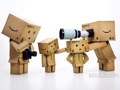 129/365:  Our Makeshift Camera Tripod. (Randy Santa-Ana) Tags: toys toycamera danbo danboard toytripod 365daysofdanbo
