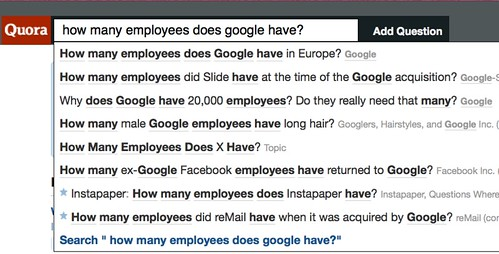 quora on how many employees does google have?