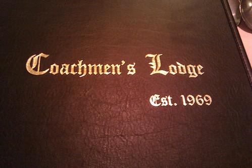 Coachmen's Lodge menu cover