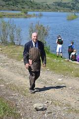 Mr Muddy at ILMR410 (Mr. Muddy Suitman) Tags: lake mud run dirty suit irvine dodgeball