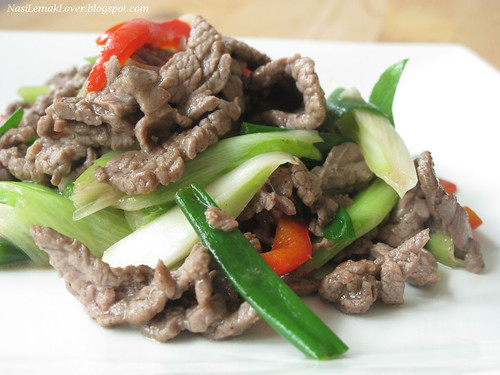 Black pepper Scallion beef