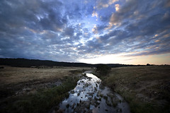 Yealambidgie (Grant Brodie Photography) Tags: sunset panorama clouds reflections geotagged photography landscapes nikon dynamic dusk dramatic sunsets australia rivers canberra captainsflat 2011 d700 molongloriver grantbrodie grantbrodiecreativephotography yealambidgie