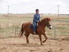 E riding Calliope (lostinfog) Tags: colorado april 2011 201104 calliope e300 riderem horse