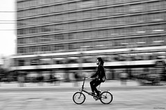 Fast bicyle (Nick-K (Nikos Koutoulas)) Tags: bw bike bicycle 50mm nikon f14 panning