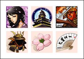 free Twin Samurai slot symbols