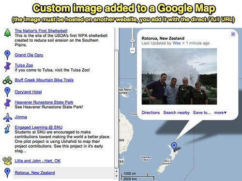 Custom image added to a Google Map