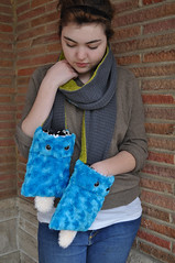 Kermuffle - monsterfied scarf (abbydid) Tags: animal monster stuffed plush plushteam abbydid