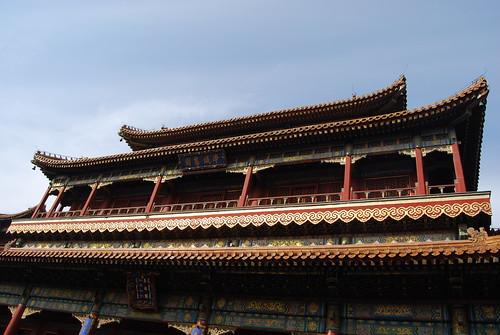 Das Dach der Wanfu Halle