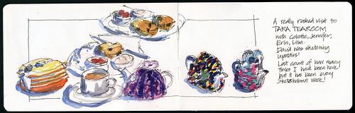 110416 Sketchcrawl 31_02 Tara tearoom with friends
