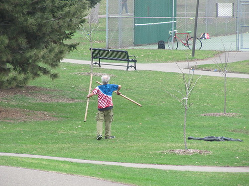 Guy with Poles