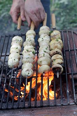 grilling mushrooms