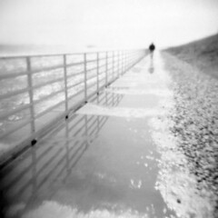 Deer Island (LowerDarnley) Tags: ocean boston fence holga winthrop massachusetts walker 120n deerisland mwra autaut splashover
