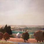 "<b>Hill Top Farm</b><br/> Maakestad (LC '80) (oil pastel on paper, 2009)<a href=""http://farm6.static.flickr.com/5225/5636101754_3e3f37c1c1_o.jpg"" title=""High res"">∝</a>"