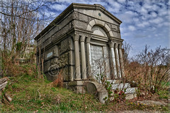 Philly Spring 2011 Shoot - Mount Moriah cemetery mausoleum (hdr) (danilew) Tags: pictures usa abandoned philadelphia nature cemetery grave graveyard outdoors us condemned highresolution nikon ruins scenery photos pennsylvania urbandecay tomb neglected ruin headstones images historic pa mausoleum photographs land april handheld historical tombstones derelict crypt gravestones hdr highdynamicrange plot deteriorated decayed dilapidated tallgrass gravesite crumbling rundown ruined urbanlandscape burialground brokendown shabby d300 historicsites 2011 fallendown 5xp tamron1750mmf28 mountmoriahcemetery tamronspaf1750mmf28xrdiiildasphericalif niksoftware nikond300 capturenx2 danilew wwwdanilewcom hdrefexpro naturalexteriors3