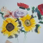 Peonies and Sunflowers thumbnail