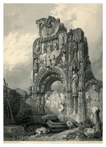 006- Ruinas del convento de las Carmelitas en Burgos- The tourist in Spain (1837)-Roberts David