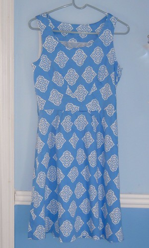 Passport Dress in Blue