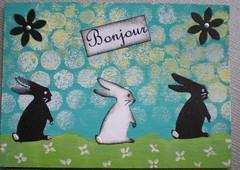 EAT  (10) (tammybeck) Tags: rabbit bunny art atc artisttradingcard collage konijn handmade conejo coelho lapin kaninchen coniglio kani  cwningen  kanin 2011  krlik zec  th iepure kuneho krlk  sungura coinn