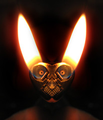 Happy Eastr (Sea Moon) Tags: rabbit bunny easter symmetry flame lighter easterbunny bic butane happyeaster digitalmirroring