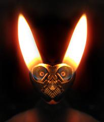 Happy Eastr (Sea Moon) Tags: rabbit bunny easter symmetry flame lighter easterbunny bic butane happyeaster digitalmirroring