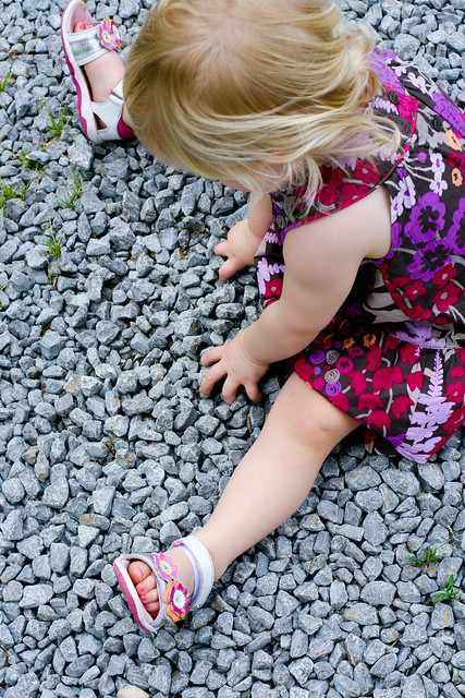 playing in the rocks