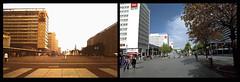 30 Jahre (Veit Schagow) Tags: dresden boulevard strasse exa zeit 1b prager pragerstrasse diascan vergleich exa1b umkehrfilm zeitvergleich gegenueberstellung
