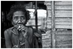 The Last Nomadic - Bateq Tribe. (Kupih) Tags: poverty old skinny nationalpark kid native bamboo smoking malaysia tribe kelantan negrito orangasli batek kualakoh bateq nikond3 kupih hafizahmadmokhtar nikkor35mm2