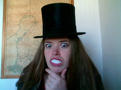 Stello, top hat & webcam..